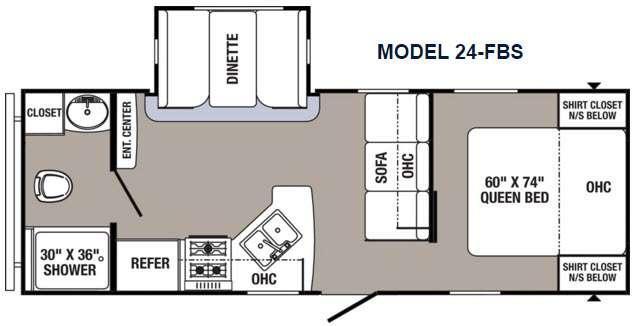 Floorplan - 2016 Palomino Puma 24-FBS