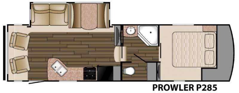 Floorplan - 2016 Heartland Prowler P285