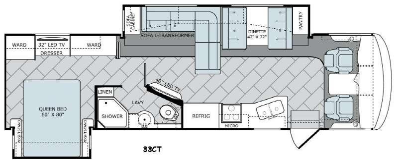 Vacationer 33CT Floorplan Image