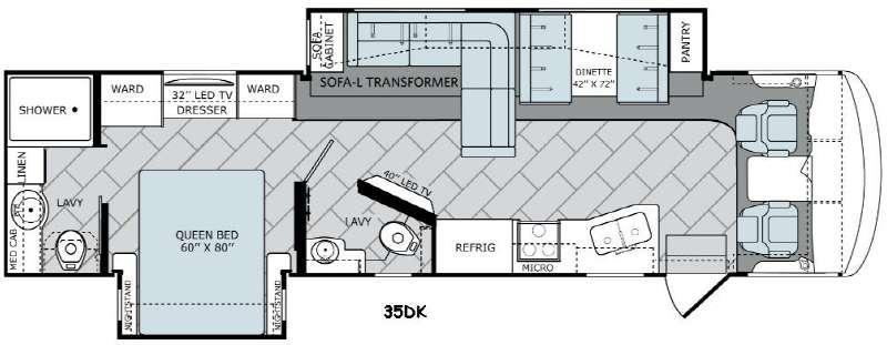 Vacationer 35DK Floorplan Image