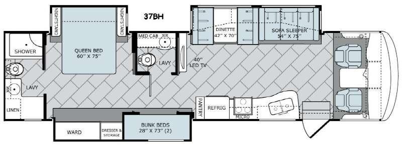 Vacationer 37BH Floorplan Image