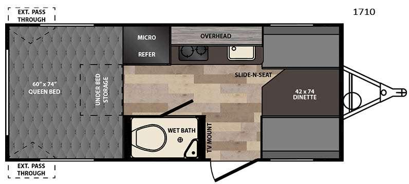 Floorplan - 2016 Winnebago Industries Towables Winnie Drop 1710