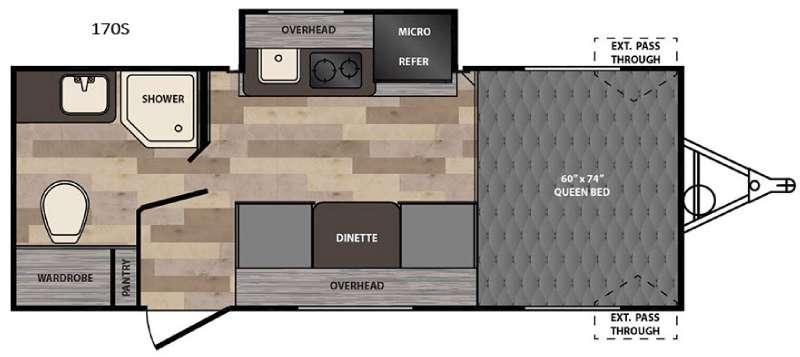 Floorplan - 2016 Winnebago Industries Towables Winnie Drop 170S