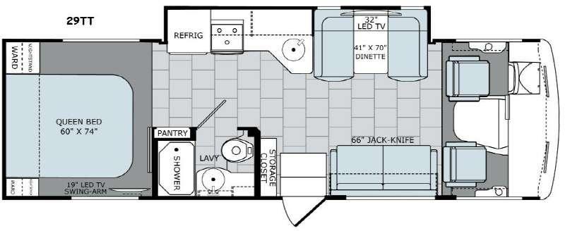 Floorplan - 2016 Holiday Rambler Admiral XE 29TT