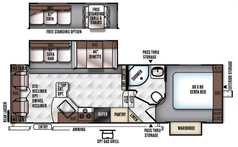Floorplan - 2016 Forest River RV Flagstaff Super Lite 527RLWS