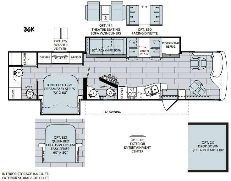 Navigator XE 36K Floorplan Image