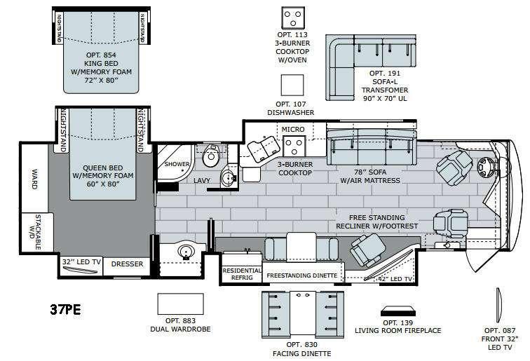 Endeavor XE 37PE Floorplan Image