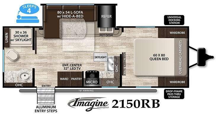 Floorplan - 2016 Grand Design Imagine 2150RB