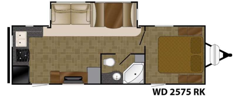 Floorplan - 2016 Heartland Wilderness 2575RK