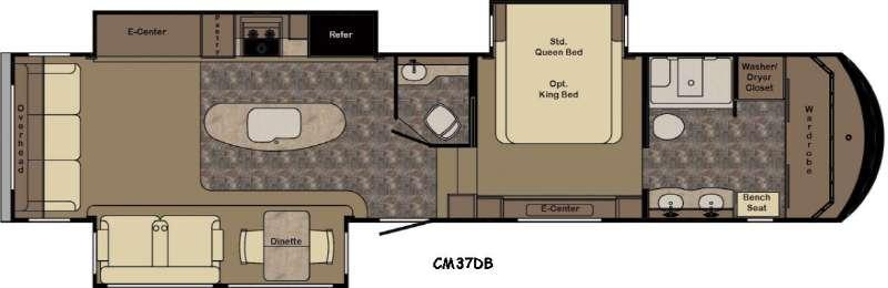 Floorplan - 2016 CrossRoads RV Cameo CM37DB