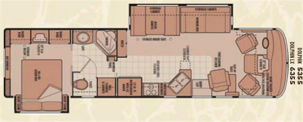 Floorplan - 2006 National RV Dolphin LX 6355