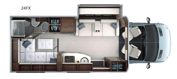 Floorplan - 2016 Leisure Travel Unity U24FX