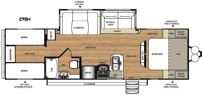 Floorplan - 2016 Forest River RV Salem Hemisphere Lite 29BH