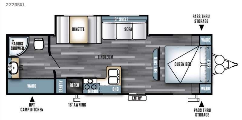 Floorplan - 2016 Forest River RV Salem Cruise Lite 272RBXL