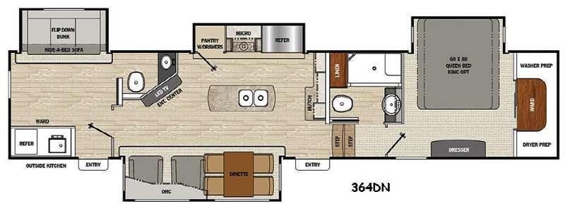 Floorplan - 2016 Coachmen RV Brookstone 364DN