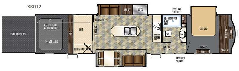 Floorplan - 2016 Forest River RV Vengeance Touring Edition 38D12