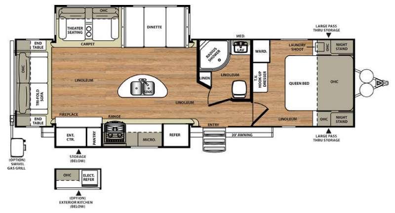 Floorplan - 2016 Forest River RV Salem Hemisphere Lite 272RL