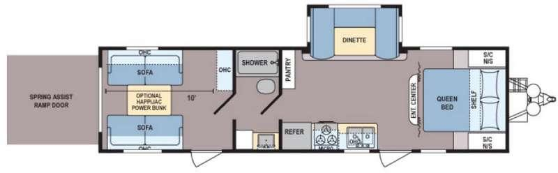 Floorplan - 2016 Dutchmen RV Coleman Lantern Series 300TQ
