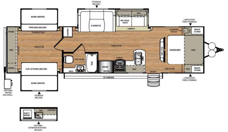Floorplan - 2016 Forest River RV Salem Hemisphere Lite 311QB