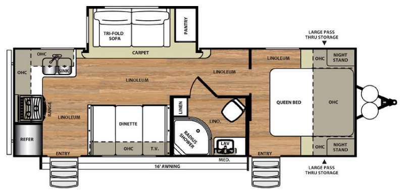 Floorplan - 2016 Forest River RV Salem Hemisphere Hyper-Lite 24RK