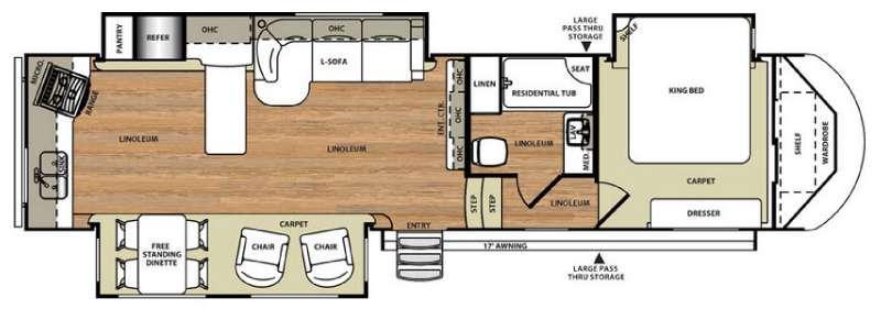 Floorplan - 2016 Forest River RV Wildwood Heritage Glen 346RK