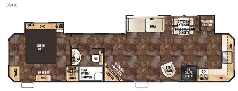 Floorplan - 2016 Forest River RV Cherokee Destination Trailers 39FK