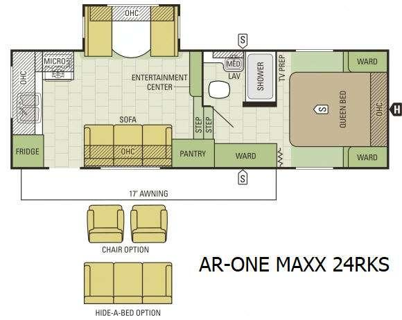 Floorplan - 2016 Starcraft AR-ONE MAXX 24RKS