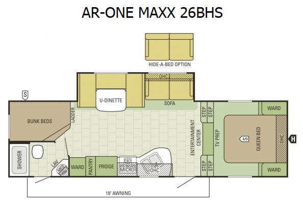 Floorplan - 2016 Starcraft AR-ONE MAXX 26BHS