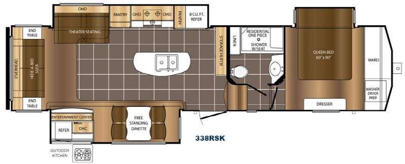 Crusader 338RSK Floorplan Image