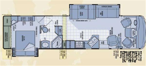 Floorplan - 2006 National RV Sea Breeze 1350