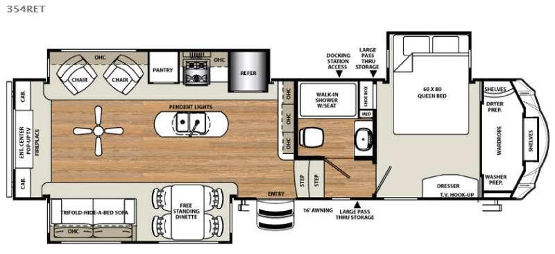 Floorplan - 2016 Forest River RV Sierra 354RET