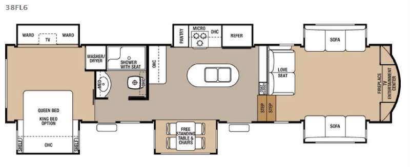 Floorplan - 2016 Forest River RV Cedar Creek 38FL6