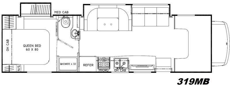 Floorplan - 2016 Coachmen RV Leprechaun 319MB Ford 450