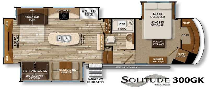 Floorplan - 2016 Grand Design Solitude 300GK