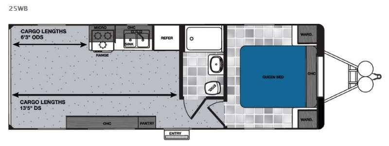 Floorplan - 2016 Forest River RV Work and Play Ultra Lite 25WB LE