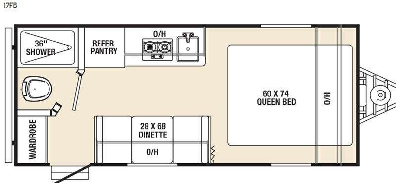 Floorplan - 2016 Coachmen RV Clipper Ultra-Lite 17FB