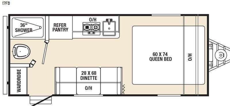 Floorplan - 2016 Coachmen RV Clipper Ultra-Lite 17FB