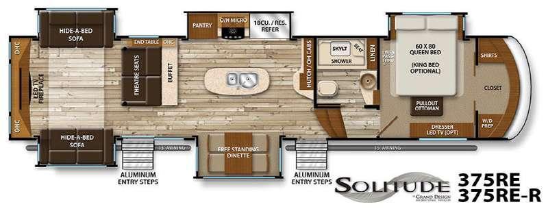 Floorplan - 2016 Grand Design Solitude 375RE R