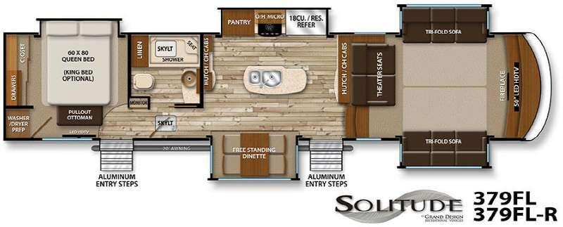 Floorplan - 2016 Grand Design Solitude 379FL R