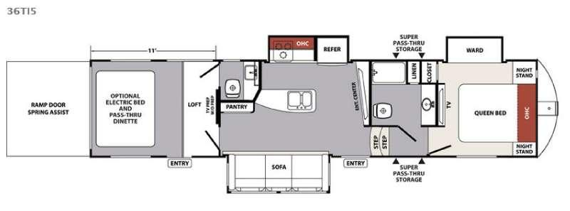Floorplan - 2016 Forest River RV XLR Nitro 36TI5