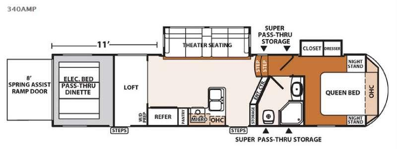 Floorplan - 2016 Forest River RV XLR Thunderbolt 340AMP