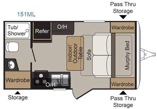 Floorplan - 2016 Keystone RV Passport 151ML Express