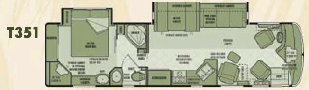 Floorplan - 2006 National RV Tropical T351