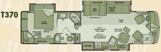 Floorplan - 2006 National RV Tropical LX T370