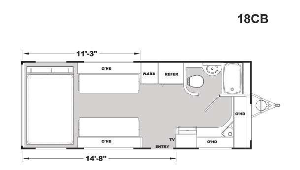 Stellar Metal 18CB Floorplan Image