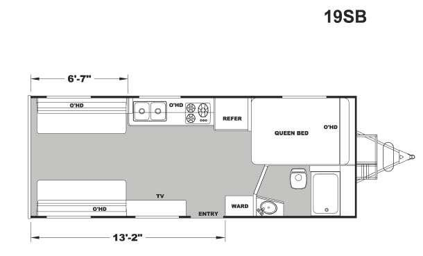 Floorplan - 2017 Eclipse Stellar Metal 19SB