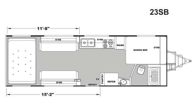 Floorplan - 2017 Eclipse Stellar Metal 23SB