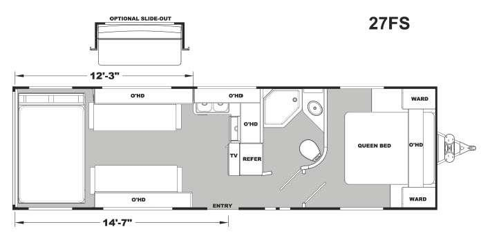 Stellar Metal 27FS Floorplan Image