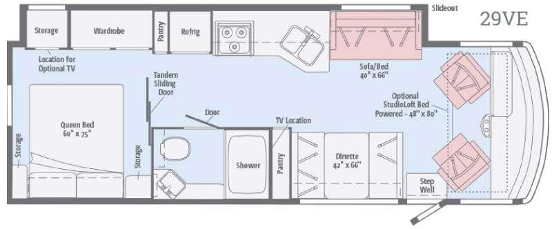 Floorplan - 2017 Itasca Sunstar 29VE