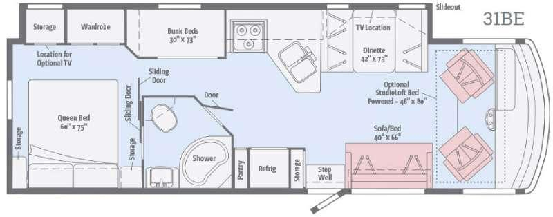 Sunstar 31BE Floorplan Image